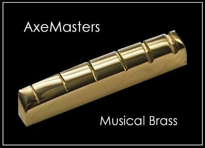 """AxeMasters """"STANDARD SIZE"""" BRASS NUT made for EPIPHONE Les Paul SG 335... Guitar"""