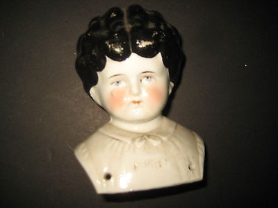 "Late 19 Th. Century China ""marion"" Doll Head - Made In Germany - 4 1/2"" Tall"