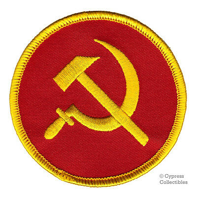 COMMUNIST LOGO PATCH - HAMMER AND SICKLE USSR CCCP iron-on embroidered SOCIALISM