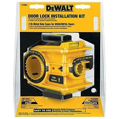 DEWALT D180004 Bi-Metal Door Lock Installation Kit New