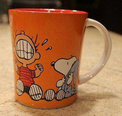 Peanuts Coffee Cup Linus Snoopy Stoneware Mug 15 oz Crying Isn't Going To Help