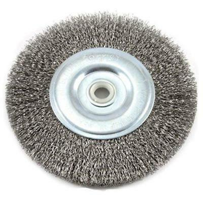 Forney 72745 Wire Bench Wheel Brush, Coarse Crimped with 1/2-Inch and 5/8-Inch