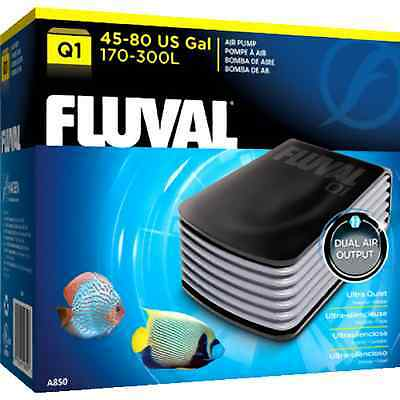 Fluval Q1 Aquarium Air Pump Powerful Noise Suppressing Baffle Chamber Fish Tank