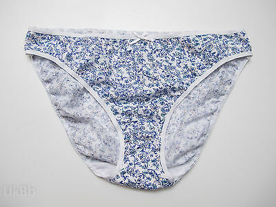 Blooming Marvellous Blue White Floral Stretch Maternity Briefs Knickers Size 12