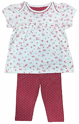 Baby Girls Leggings & Floral Top Outfit Set Marks & Spencer Brand New