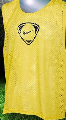 Nike Team Sports Mesh Training Vest Bib Small adults/youths - Red or Yellow BNWT