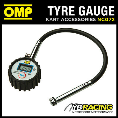 Nc/072 Omp Karting Digital Tyre Pressure Gauge For 0.6 Class Go-Kart Tyres