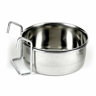 Classic Stainless Steel Bird Animal Coop Cup Drinker - Hook Clamp-on Secura-cup