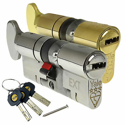 YALE Platinum Thumb Turn Cylinder Lock Anti Snap Bump High uPVC Door Euro Barrel