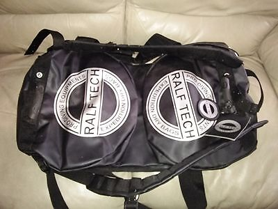 RALF TECH Expedition BLACK 120 L Semi Dry Scuba Dive Duffel Bag  Backpack large