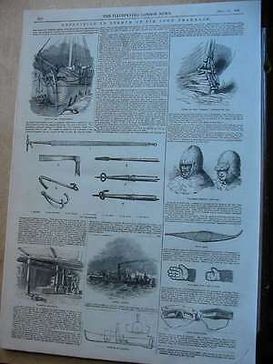 1848 London News-Polargebiet-Expedition in search of Sir John Franklin