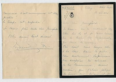 Portugal King Manuel Vichy Hotel 1925 Coutts Bank London