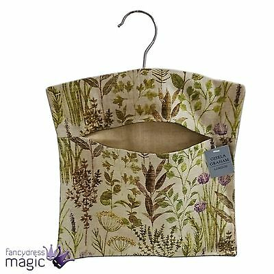 Gisela Graham Decorative Pegs Clothes Laundry Hanging Bag Herb Kitchen Home Gift