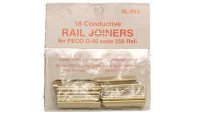 Peco SL-910 Conductive Rail Joiners for G-45 Code 250 Rail (Pack of 18)
