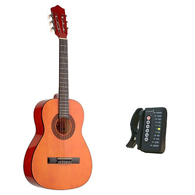 Stagg C530 3/4 Size Classical Spanish Guitar -Natural with Digital Tuner