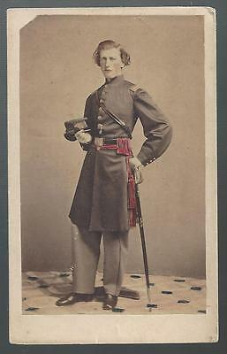 Civil War CDV of Union Captain Edward C Palmer 13th & 56th NY Infantry