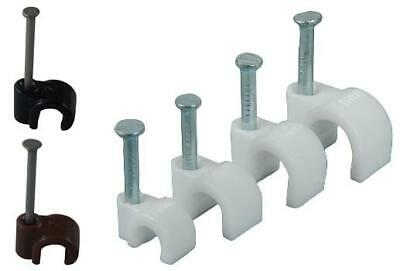 Black White 4mm 5mm 6mm 7mm 8mm 9mm Round Cable Clips