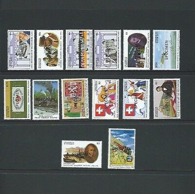 Grenadines of St Vincent 1991 UMM Anniversaries & Events sg 769/82 & MS783