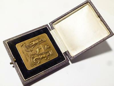 1931 Liverpool Bronze Commemorative Medal given to Mayor of NEW YORK  #T666F
