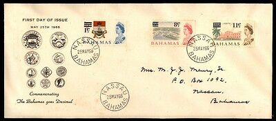 Bahamas 1966 Decimal Currency 1966 Cacheted FDC Sc 230, 235 & 237