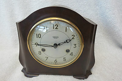 Vintage Smiths Enfield 8 Day Bakelite Mantel Clock For Restoration
