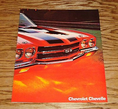 Original 1970 Chevrolet Chevelle Facts Features Sales Sheet Brochure 70 Chevy