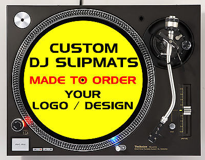 Custom slipmats for DJs / Turntables / decks with your logo / design - (Pair)