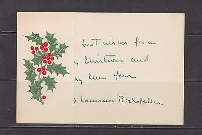 U.S.- Lot 4212,  Mint, New years card sign by Rockefeller.