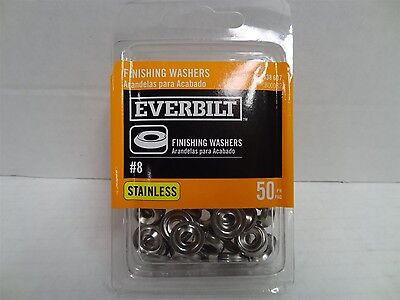Everbilt #8 Stainless-Steel Finishing Washer (50-Piece), 438607
