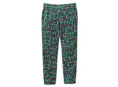 NWT Gymboree PLUM PONY Green Forest Flowers Ditsy Stretch Ponte Pants~6~