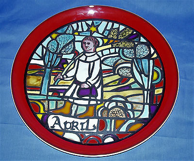 POOLE POTTERY MEDIEVAL CALENDAR PLATE~APRIL~Issued 1973