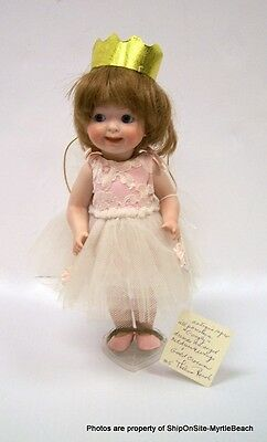 "Antique Reproduction Porcelain Doll ""Googly"" Angel by Thelma Resch"