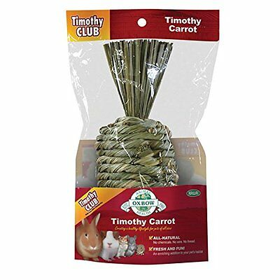 OXBOW Animal Health All Natural Woven Hay Timothy Club Carrot Fun Pet Habitat