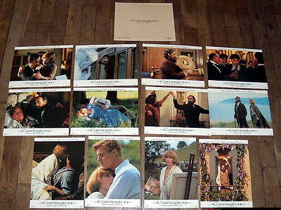 CARRiNGTON Jonathan Pryce Lytton Strachey Emma Thompson 12 FRENCH LOBBY CARDs