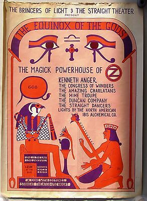 STRAIGHT THEATER, SAN FRANCISCO: EQUINOX OF THE GODS Benefit Concert Poster 1967