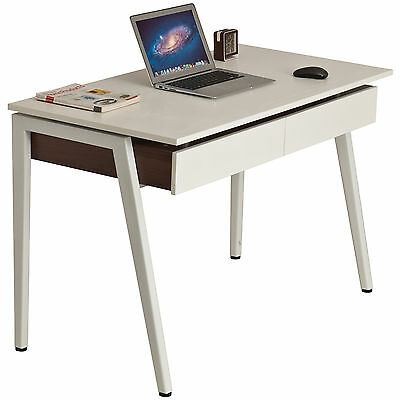 Retro Laptop Computer Writing Desk w Drawers for Home Office - Piranha Trevally