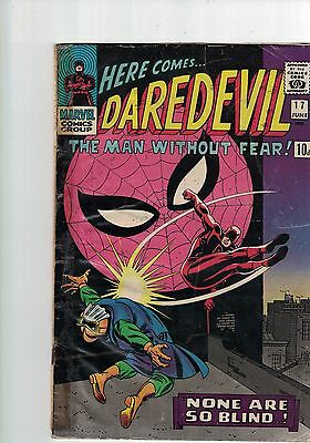 Marvel comic Here comes Daredevil No 17 June  1966
