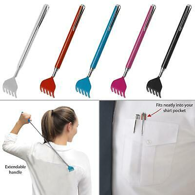 Telescopic Extendable Handy Portable Back Scratcher Pocket Metal Pen Clip