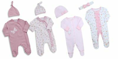 Babytown Baby Girls 2 Piece Sleepsuit & Hat Set
