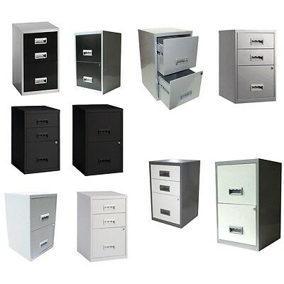 Pierre Henry 2 - 3 Drawer A4 Home Office Metal Filing Cabinet 40x40x66cm -Choice