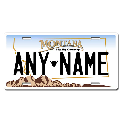 Personalized Montana License Plate for Bicycles, Kid's Bikes & Cars Ver 1