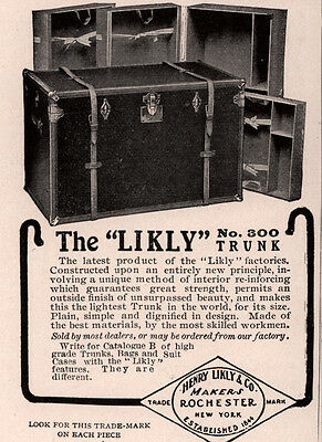 Early 1900 's Ad Likly Co   No 300 Trunk