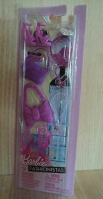 Barbie Fashionistas Accessories Pack Shoes, Bags& Necklaces (Pink Pack ) SALE