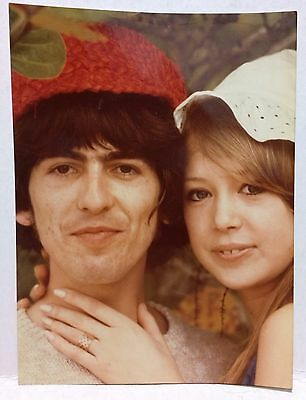 Patti Boyd and George Harrison inscribed (by p.b.)