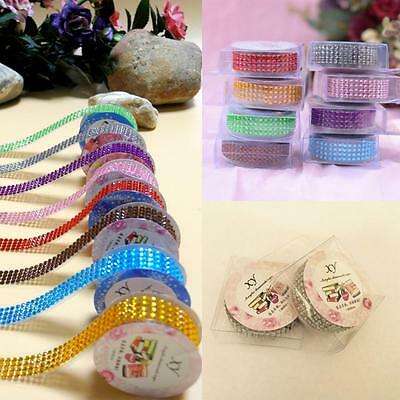 Bling Card Craft Stick On Rhinestones Sticker Self-adhesive Acrylic Tape