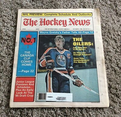 Hockey News Oct 1984 Wayne Gretzky Can Oilers Win Again