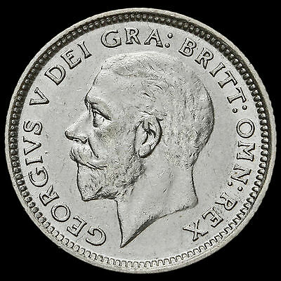 1926 George V Silver Sixpence, Third Coinage Modified Effigy