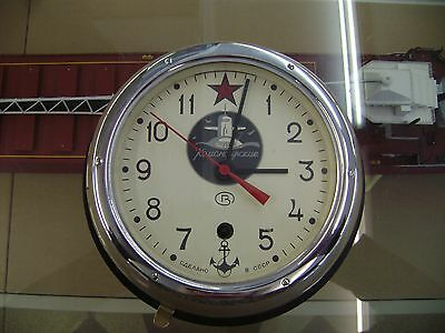 Vintage Russian Submarine Clock Nautical Vostok Ships Maritime Decor
