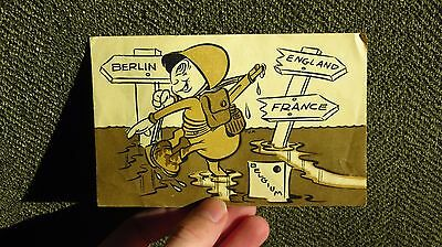 WW2 US ARMY MILITARY 78th Infantry Division Christmas Greeting Card Belgium