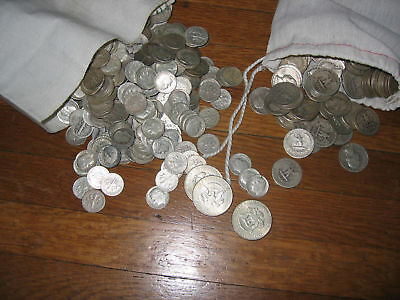 $1000 Face Value Of 90% Silver Dollars Halfs Quart Dimes